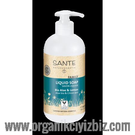Aile Serisi - Sıvı Sabun - Organik Aloe ve Limon 500 ml - 42508 - Sante