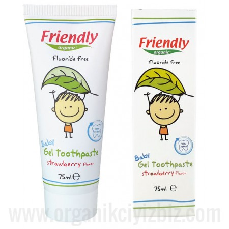 Bebek Jel Diş Macunu Çilek Aromalı 75ml - FR0096 - Friendly