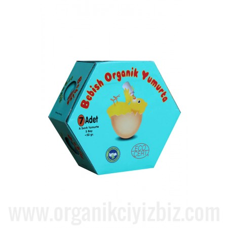 Bebish Organik Yumurta - 7'li - Kor