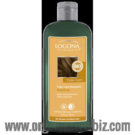 Boya Bakım Şampuanı - Organik Fındık Özlü - Kahve ve Siyah Renkli Saçlar İçin 250ml - 32165 - Logona