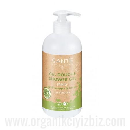 Duş Jeli - Organik Organik Ananas ve Limon Özlü 500ml - Aile Boyu - 42511 - Sante