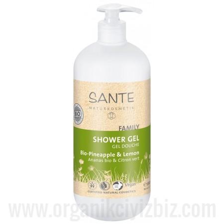 Duş Jeli - Organik Organik Ananas ve Limon Özlü 950ml - Aile Boyu - 42512 - Sante
