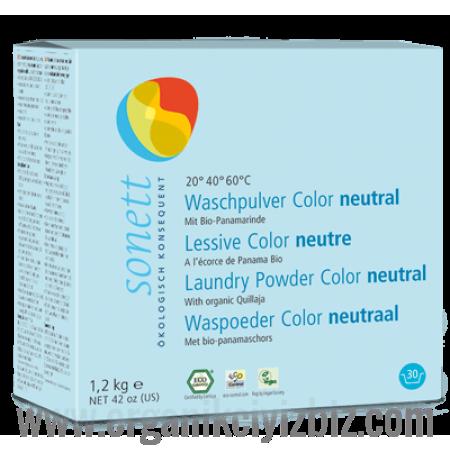 Nötral Renkliler İçin Çamaşır Yıkama Tozu 1.2kg - E1022 - Sonett