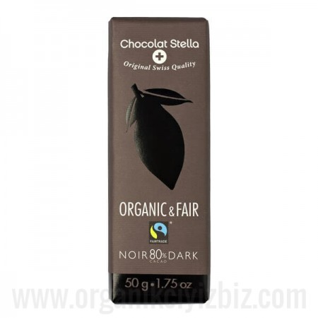 Organik %80 Kakaolu Bitter Çikolata 50gr - Stella Chocolate
