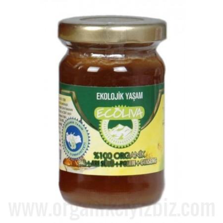 Organik Arı Sütü + Bal + Polen 125gr - Ecoliva