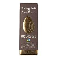 Organik Bademli Sütlü Çikolata 50gr - Stella Chocolat