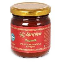 Organik Bal-Polen-Ginseng Karışımı 225g (Ginsengli) - Eğriçayır