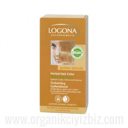 Organik Bitkisel Toz Saç Boyası - Altın Sarısı 100g - 01100 - Logona