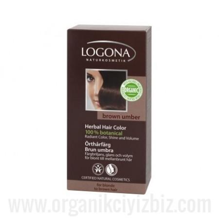 Organik Bitkisel Toz Saç Boyası - Koyu Kahve 100g - 01108 - Logona