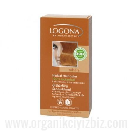 Organik Bitkisel Toz Saç Boyası - Sahara 100g - 01101 - Logona