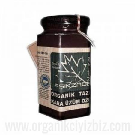 Organik Çekirdekli ve Kabuklu Taze Kara Üzüm Özü 200 ml - Aşıkzade