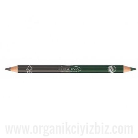 Organik Çift Taraflı Göz Kalemi - Yeşil 02 - 02303 - Logona