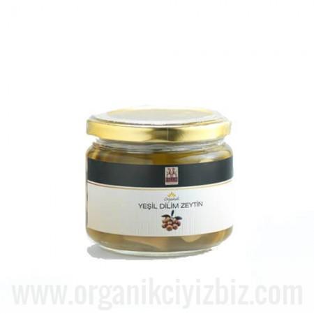 Organik Dilim Yeşil Zeytin (Sade) - Yerlim