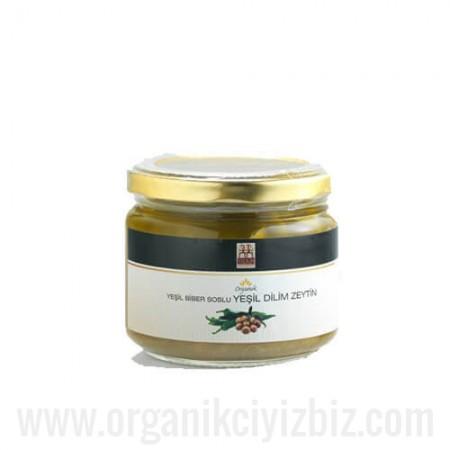 Organik Dilim Yeşil Zeytin (Yeşil Biber Soslu) - Yerlim