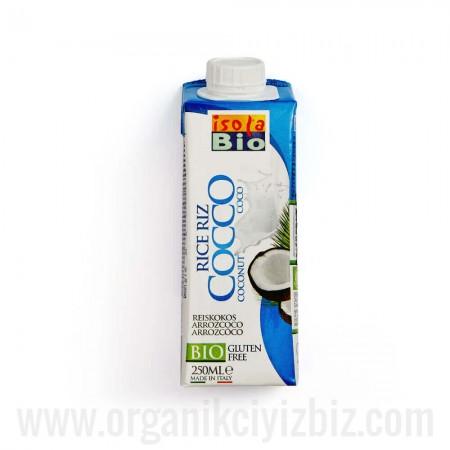 Organik Hindistan Cevizi Sütü 250ml - Laktozsuz Glutensiz - Isola Bio Organik