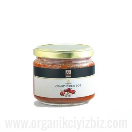 Organik Kırmızı Biber Sos 250gr - Yerlim