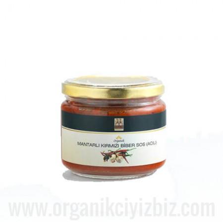 Organik Mantarlı Kırmızı Biber Sos (Acılı) 250gr - Yerlim