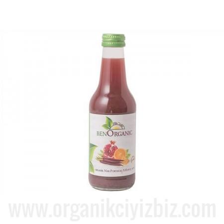 Organik Nar + Havuç + Portakal Suyu 250ml - Ben Organik