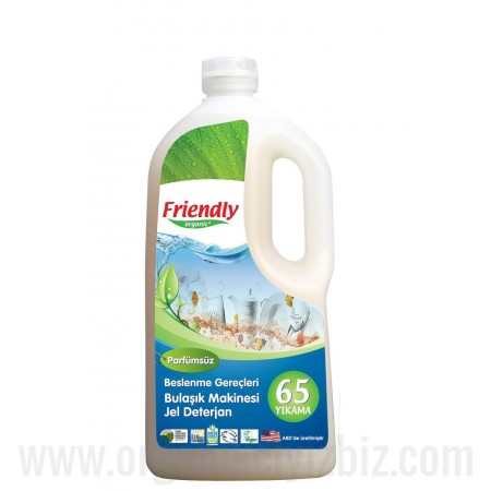 Organik Parfümsüz Bulaşık Makinesi Jel Deterjan 1.183 L - FR0546 - Friendly