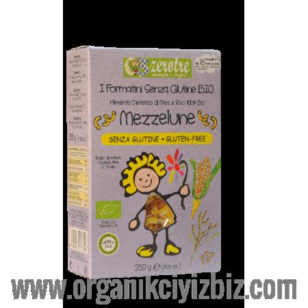 Organik Sade Glutensiz Makarna - RC06616 - Mezzelune 250g - Zerotre