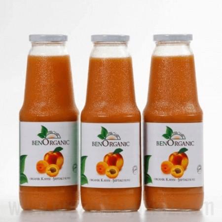 Organik Şeftali+Kayısı Meyve Suyu - Ben Organik