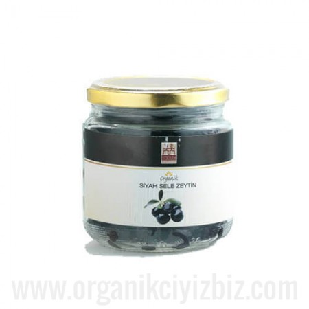 Organik Siyah Sele Zeytin 270 gr - Yerlim