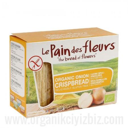Organik Soğanlı Kraker/Ekmek - Glutensiz 125gr - Le Pain des Fleurs