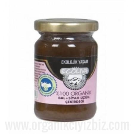 Organik Üzüm Çekirdeği + Bal 125gr - Ecoliva