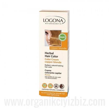 Sarı & Kahve Renkli Saçlar İçin - Kızıl Sarı Doğal Krem Boya 150ml - 01117 - Logona