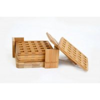 Doğal Bastilla - 6'lı Bardak Altlığı - Bambum