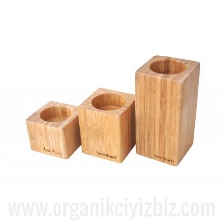 Doğal Gofio - 3'Lü Mumluk - Bambum