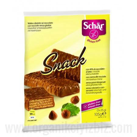 Doğal Schar Snack 3x35g Çikolata Kaplı Fındıklı Gofret - Oranca