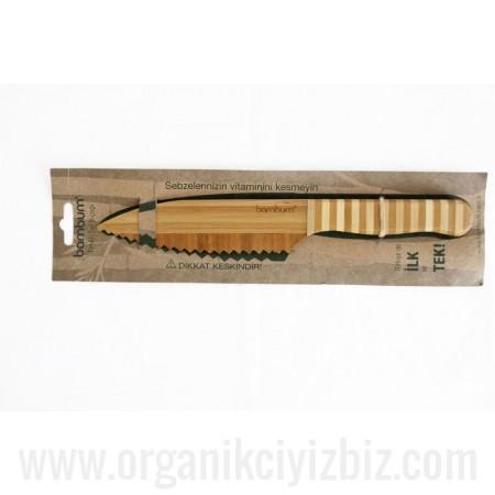 Doğal Tırtıklı Şef Bıçağı - Bambum