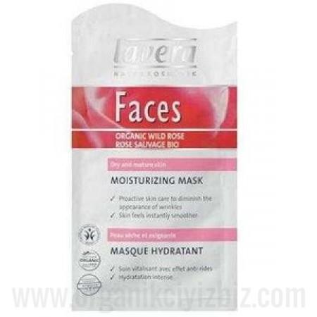 Organik Cilt için canlandırıcı Yüz maskesi - Yaban güllü - Kuru Ciltler için
