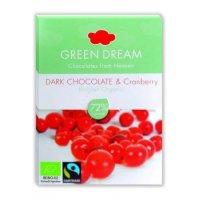 Organik Green Dream Bluberry- Kızılcık Meyveli Bitter Çikolata  - Oranca
