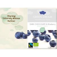Organik Green Dream Bluberry - Yabanmersinli Bitter Çikolata - Oranca