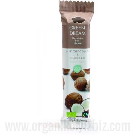 Organik Hindistan Cevizli Sütlü Çikolata - Oranca