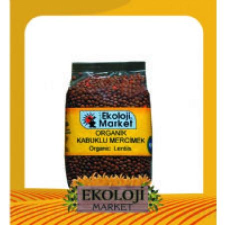 Organik Kabuklu Mercimek 500gr - Ekoloji Market