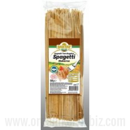 Organik Kepekli Spagetti Makarna 500gr - Baktat