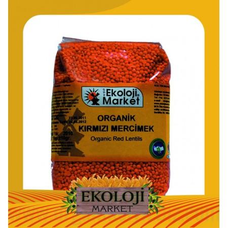 Organik Kırmızı Mercimek 1kg - Ekoloji Market