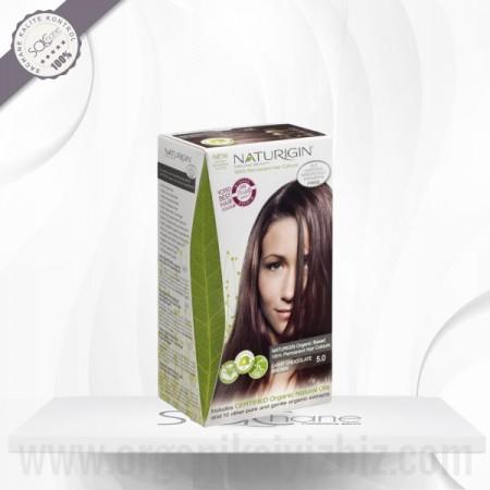 Organik Naturigin-Organik Saç Boyası-5.0 Açık Çikolata Kahverengi