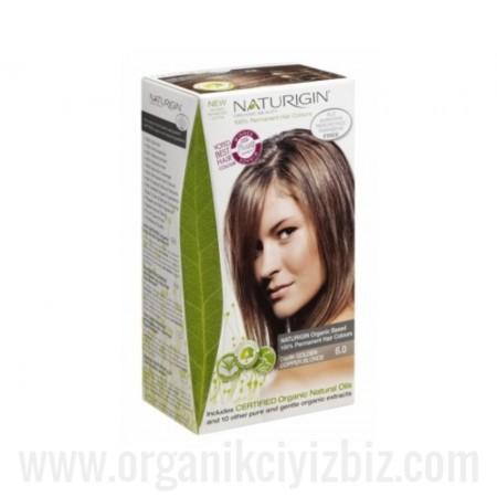 Organik Naturigin-Organik Saç Boyası-6.0 Koyu Bakır Altın Sarısı