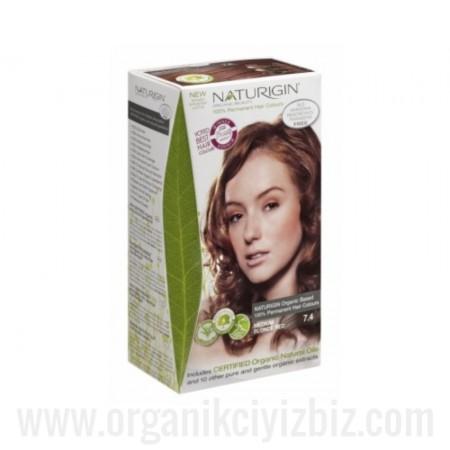 Organik Naturigin-Organik Saç Boyası-7.4 Orta Sarı Kızıl
