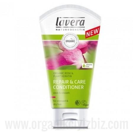 Organik Onarıcı & Bakım Saç kremi - Yıpranmış ve kuru saçlar için - Gül & Keratin