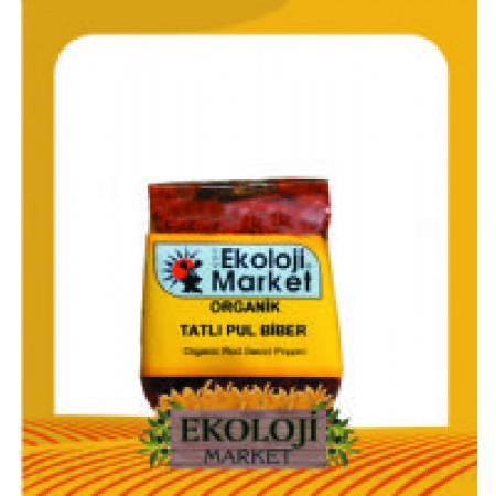Organik Pul Biber -Tatlı- 50gr - Ekoloji Market