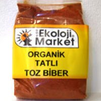 Organik Toz Biber-Tatlı 50gr - Ekoloji Market
