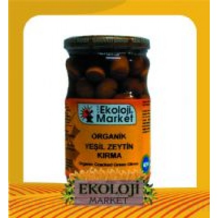 Organik Yeşil Zeytin (Biberli) 660cc - Ekoloji Market
