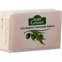 Organik Zeytinyağlı Bademli Sabun - Saklı Cennet
